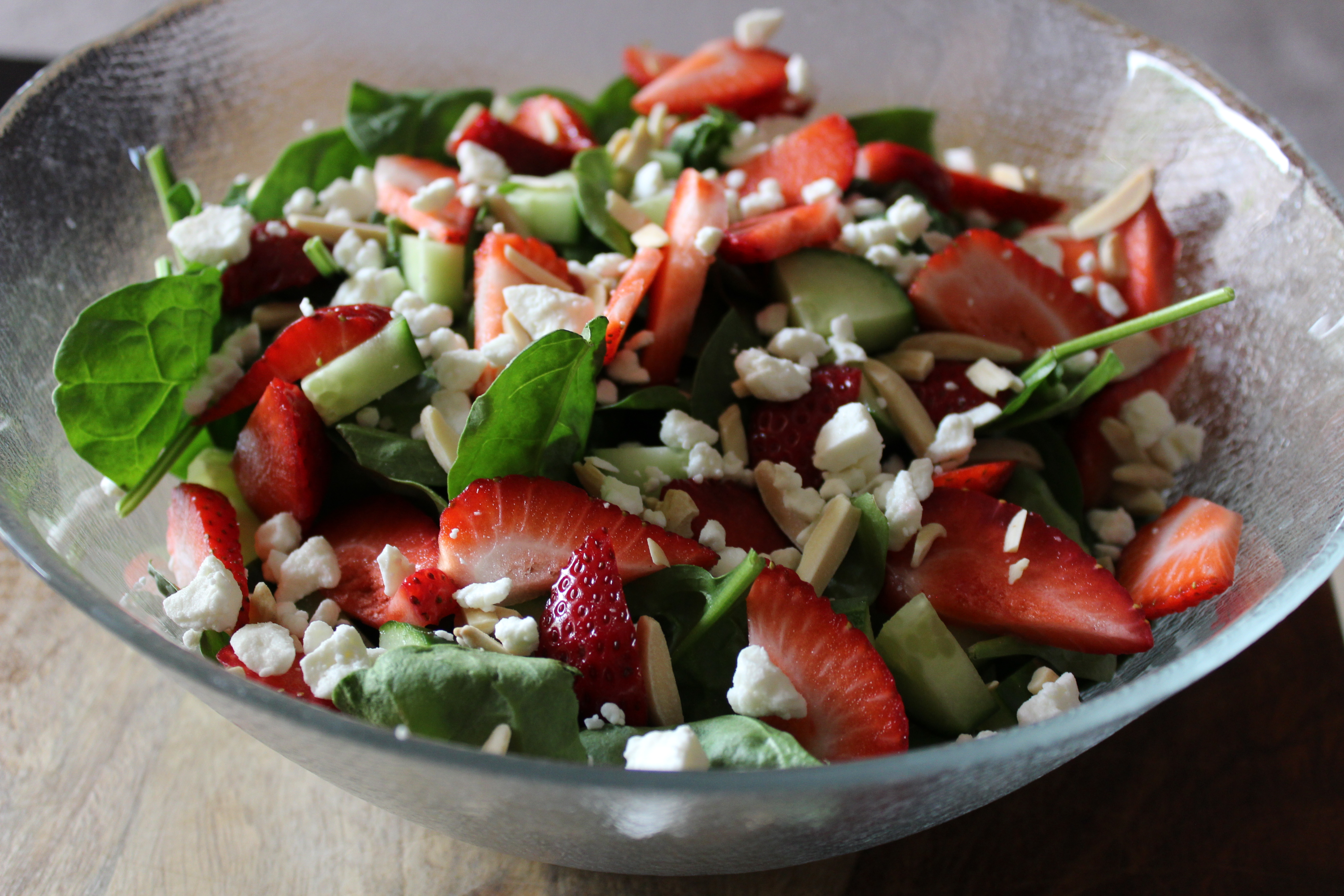 Summer Strawberry Spinach Salad