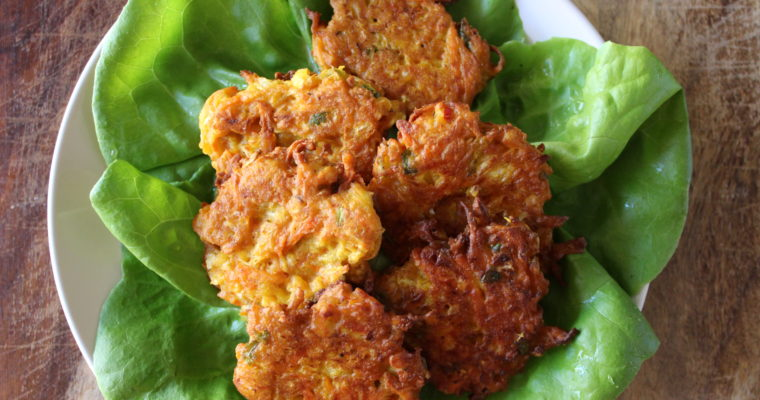 Cabbage Carrot Chickpea Fritters / Pakoras